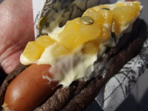 ハロウィーン・ホットドッグ ~さつまいも&クリームチーズ~